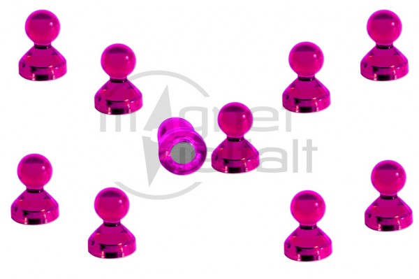 Pin Magnets Acrylic 11 x 17,6 mm, magenta