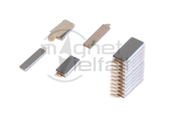 Magnetplatten, 10 x 5 x 1 mm, selbstklebend, VE 10 Paar