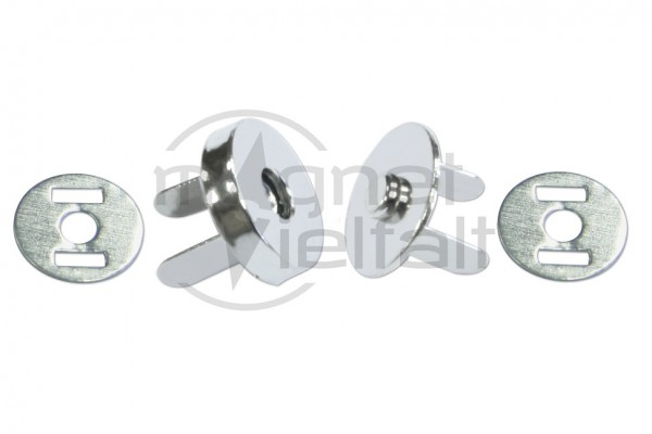magnetic snap closures 10-18 mm nickel-plated