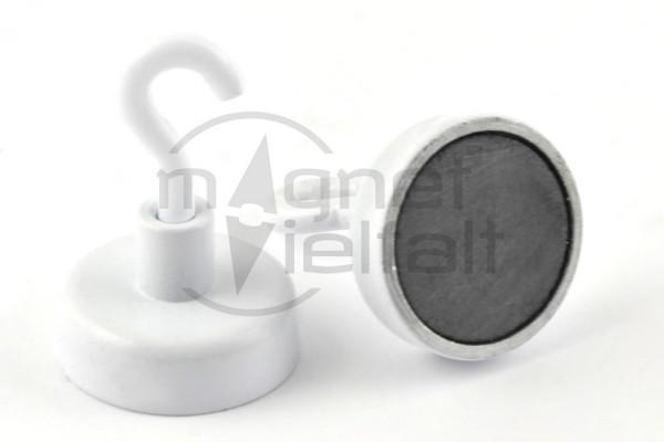 Ferrit Hakenmagnete, 25 mm Durchmesser, weiss