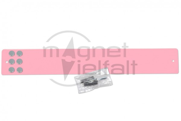 metal bar for magnets short light-pink