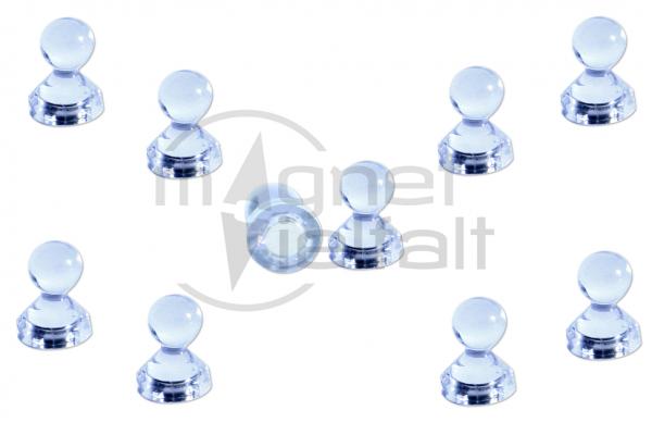 Pin magnets acrylic transparent