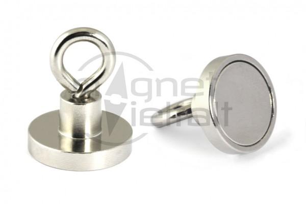 Neodymium Eyelet Magnet, 25 mm diameter