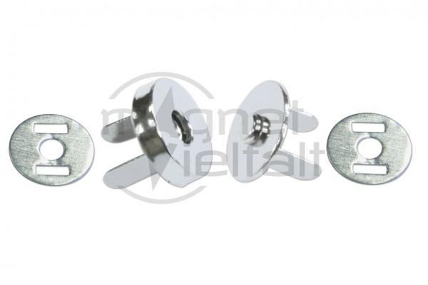 Magnetverschlüsse 10-18 mm vernickelt