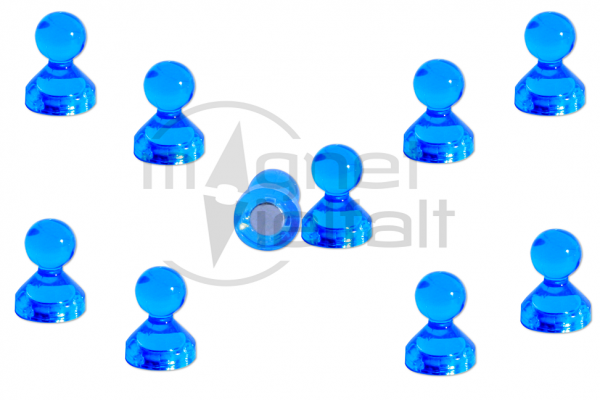 Pin magnets acrylic blue