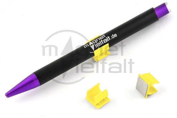 Stifthalter, Kunststoff, magnetisch, neongelb