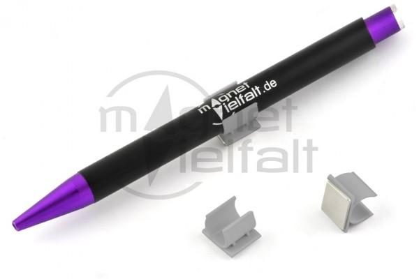 Stifthalter, Kunststoff, magnetisch, grau