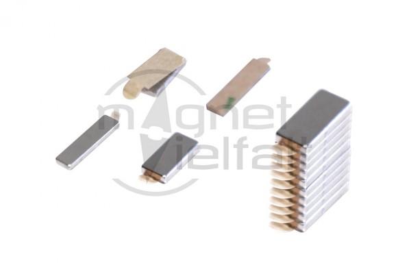 Magnetplatten, 20 x 10 x 1 mm, selbstklebend, VE 10 Paar