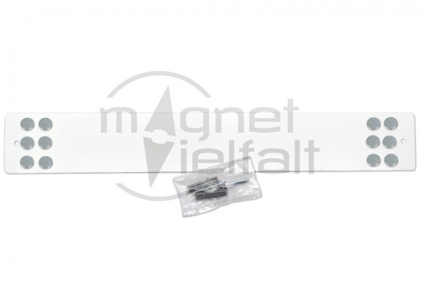metal bar for magnets long white