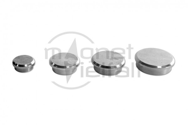 super strength magnets with brushed surface silver