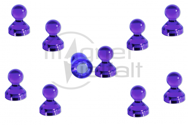 Pin magnets acrylic purple