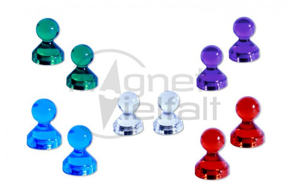 Kegelmagnete farbig sortiert