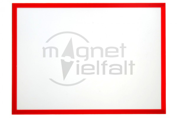 Magnetic frame DIN A4, 229 x 315 mm, color: red