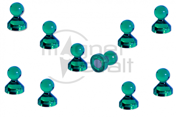 Pin magnets acrylic green