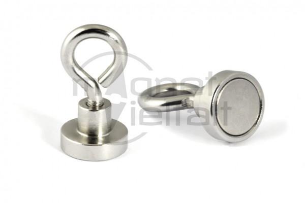 Neodymium Eyelet Magnet, 16 mm diameter