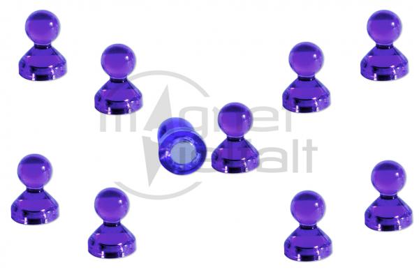 Kegelmagnete Acryl lila