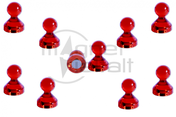 Pin magnets acrylic red